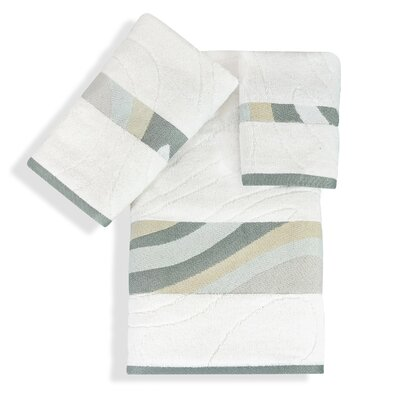 Shell Rummel Sand Stone 3 Piece Towel Set Color: White