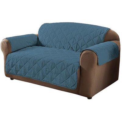 Microfiber Sofa Slipcover Color: Blue