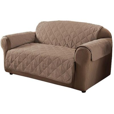 Box Cushion Sofa Slipcover Color: Natural