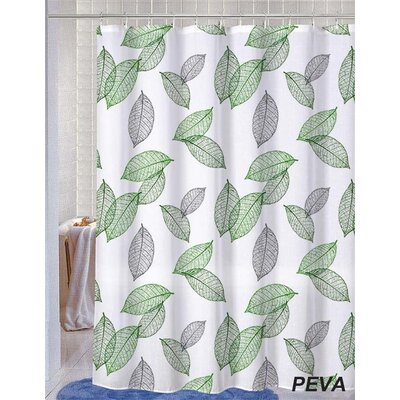 Deidre Leaves Shower Curtain with 12 Shower Hook
