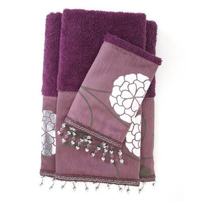 Avantie 3 Piece Towel Set Color: Purple