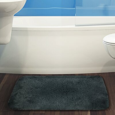 Herrmann Bath Rug Color: Charcoal, Size: 17 W x 24 L