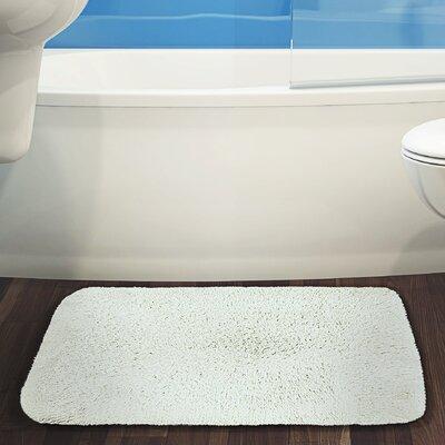 Herrmann Bath Rug Color: White, Size: 17 W x 24 L