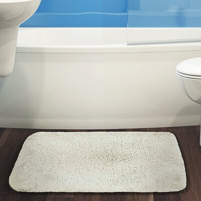 Herrmann Bath Rug Color: Cream, Size: 17 W x 24 L