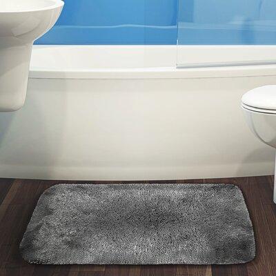 Herrmann Bath Rug Color: Gray, Size: 24 W x 40 L