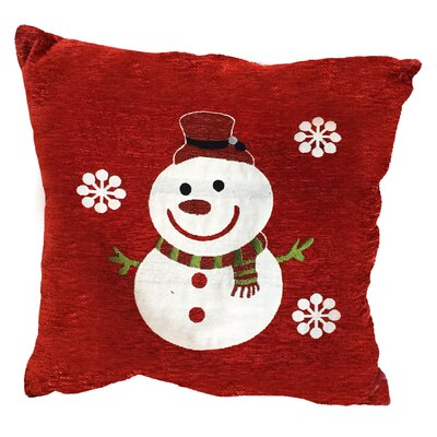 Snowman Flakes Throw Pillow