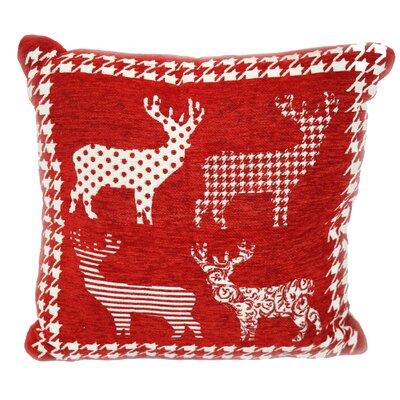 Santas Reindeer Throw Pillow