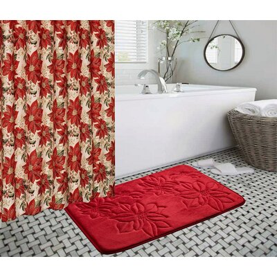 Christmas Flower 14 Piece Bath Rug Set