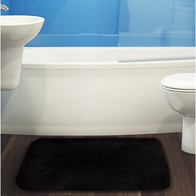 Herrmann Bath Rug Color: Black, Size: 17 W x 24 L