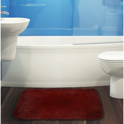 Herrmann Bath Rug Color: Burgundy, Size: 17 W x 24 L