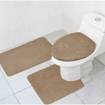 Cote 3 Piece Bath Rug Set Color: Mocha