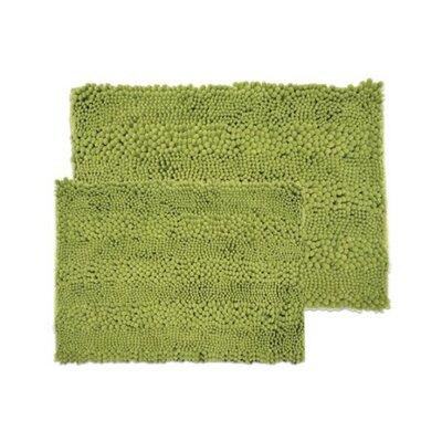 Aldante Chenille 2 Piece Rug Set Color: Sage