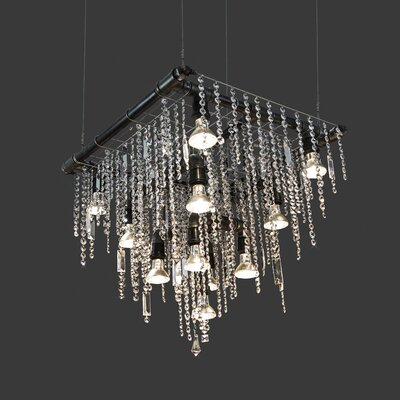 Outdoor 13-Light Crystal Chandelier