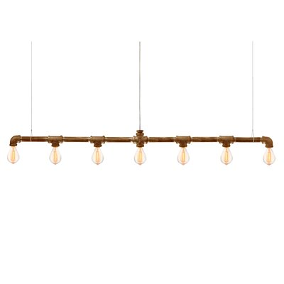 Raw Bar Linear Suspension 7-Light LED Kitchen Island Pendant