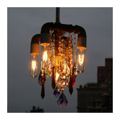 Industrial 5-Light Compact Mini Chandelier