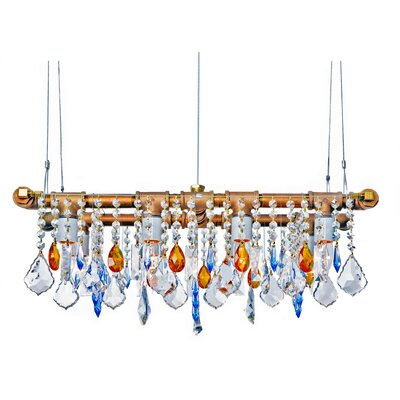 Industrial Mini-Banqueting 4-Light Crystal Chandelier