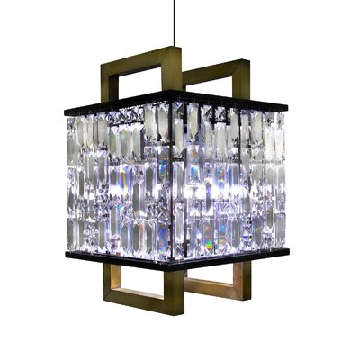 Cherryl 2-Light Crystal Pendant Finish: Brass