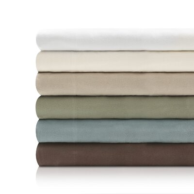 Ethridge Portuguese Flannel Pillowcase Color: Coffee, Size: Queen