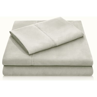 Brushed Polyester Pillowcase Set Size: Standard, Color: Sand