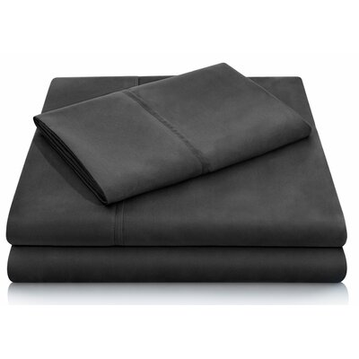 Brushed Polyester Pillowcase Set Size: Standard, Color: Black