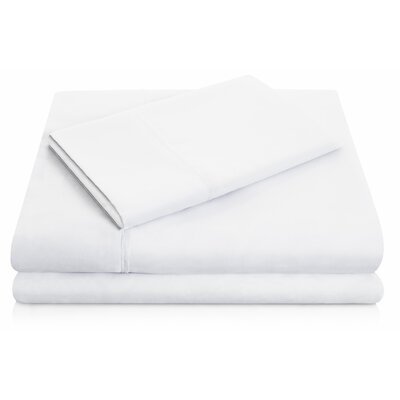 Brushed Polyester Pillowcase Set Size: Standard, Color: White