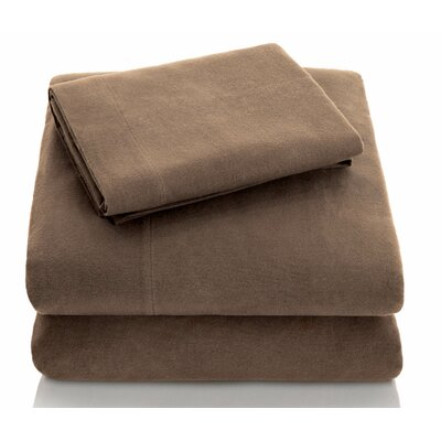 Portuguese Flannel Sheet Set Size: Queen, Color: Coffee