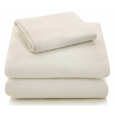Portuguese Flannel Sheet Set Size: Extra-Long Full, Color: Ivory