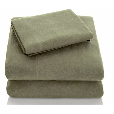 Portuguese Flannel Sheet Set Size: King, Color: Pine