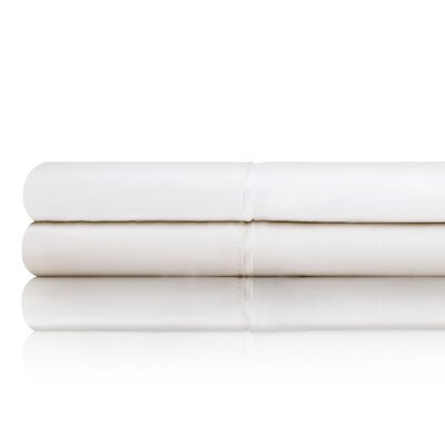 Postell 400 Thread Count Cotton Sheet Set Size: Twin, Color: Ivory