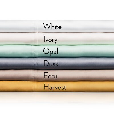 Fairhope Tencel Pillowcase Size: Queen, Color: Ivory