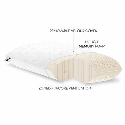 Zoned Dough Memory Foam Pillow Size: Queen