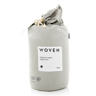 Parma French Linen Sheet Set Size: Queen, Color: Flax