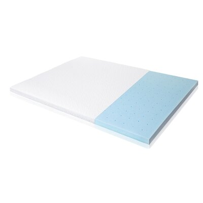 Ventilated Gel Memory Foam Mattress Topper Size: Twin