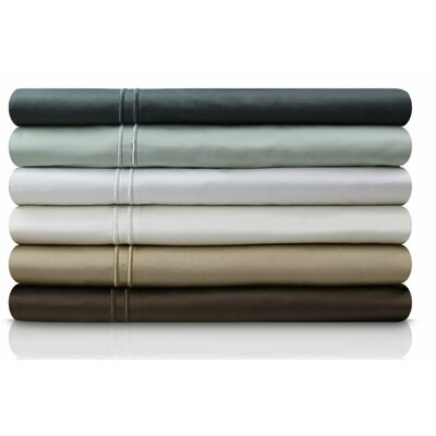 400 Thread Count Egyptian Quality Cotton Pillowcase Size: Queen, Color: Chocolate