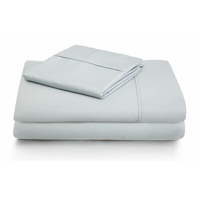 Woven 600 Thread Count Cotton Blend Pillowcase Color: White, Size: Queen