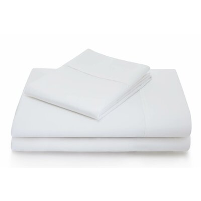 Woven 600 Thread Count Cotton Blend Sheet Set Size: Full, Color: White