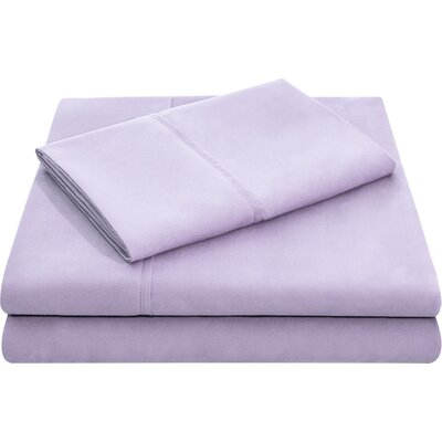 Microfiber Pillowcase Set Size: Standard, Color: Lilac