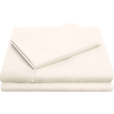 Hollander Microfiber Pillowcase Set Size: Queen, Color: Ivory