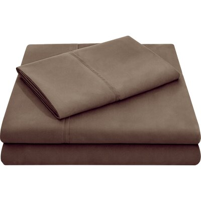 Microfiber Pillowcase Set Size: Standard, Color: Chocolate