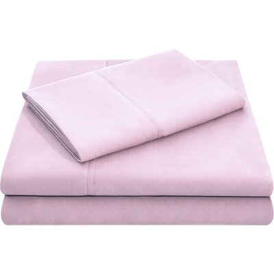 Hollander Microfiber Pillowcase Set Size: King, Color: Blush