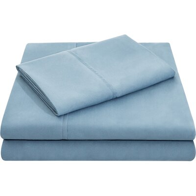 Hollander Microfiber Pillowcase Set Size: Queen, Color: Pacific
