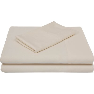 Bamboo Rayon Bed Sheet Set Color: Ivory, Size: Twin
