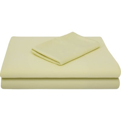 Rayon from Bamboo Bed Sheet Set Size: King, Color: Citron