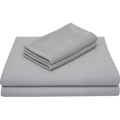 Bamboo Rayon Bed Sheet Set Size: Split King, Color: Ash