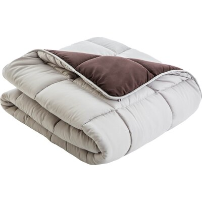 Bed in a Bag Size: Split Queen, Color: Coffee