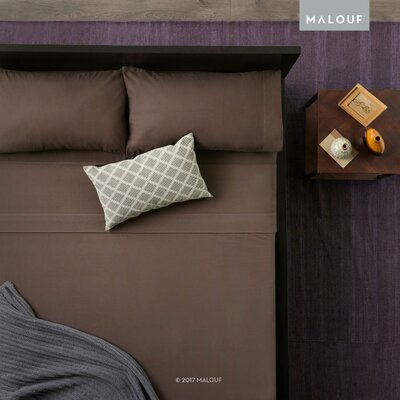 Heavyweight Portuguese Flannel 4 Piece Sheet Set Size: Queen, Color: Coffee