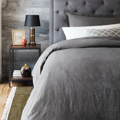 Postma 3 Piece Duvet Set Color: Charcoal, Size: King