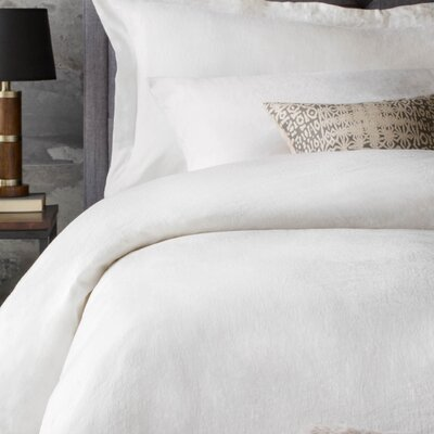 Postma 3 Piece Duvet Set Size: King, Color: White