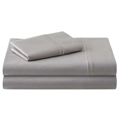 Cateline 600 Thread Count Premium Cotton Fitted Sheets Set Color: Flax, Size: Full/Double