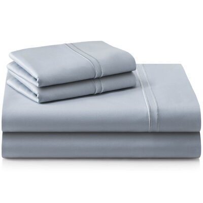 Cateline 600 Thread Count Premium Cotton Fitted Sheets Set Color: Smoke, Size: Queen